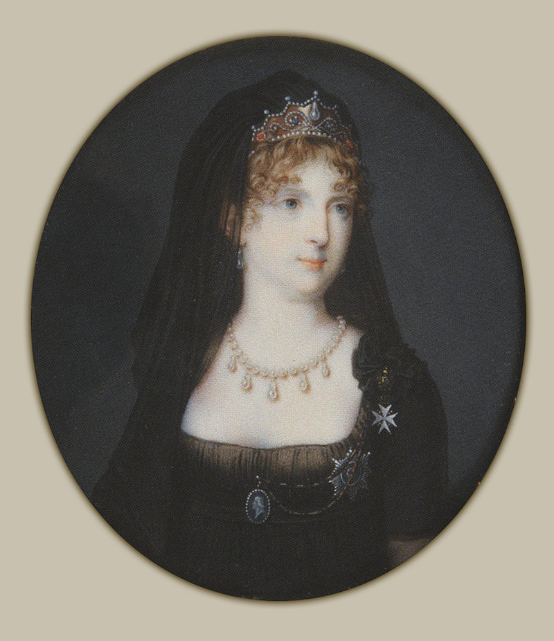 Императрица Мария Федоровна в трауре. <br>