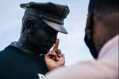 Акция протеста против полиции США